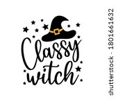 classy witch   funny halloween... | Shutterstock .eps vector #1801661632