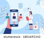 telemedicine  online doctor ...   Shutterstock .eps vector #1801692142