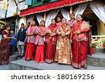 kathmandu   oct 11   the queen... | Shutterstock . vector #180169256