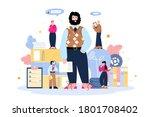 recruiters cartoon characters... | Shutterstock .eps vector #1801708402