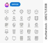 office related thin line icons... | Shutterstock .eps vector #1801715308