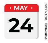 may 24 flat style calendar icon ... | Shutterstock .eps vector #1801716328