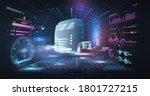 autonomous smart truck.... | Shutterstock . vector #1801727215