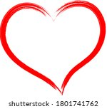 the red heart is a symbol of...   Shutterstock .eps vector #1801741762