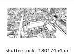 building view with landmark of... | Shutterstock .eps vector #1801745455