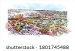 building view with landmark of... | Shutterstock .eps vector #1801745488