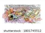 building view with landmark of... | Shutterstock .eps vector #1801745512