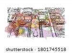 building view with landmark of... | Shutterstock .eps vector #1801745518
