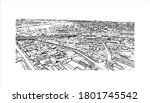 building view with landmark of... | Shutterstock .eps vector #1801745542