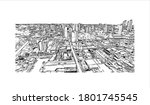 building view with landmark of... | Shutterstock .eps vector #1801745545