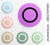 a circle badge color set....