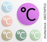 celsius badge color set. simple ...