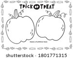 trick or treat worksheets... | Shutterstock .eps vector #1801771315