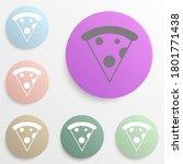 pizza badge color set. simple...