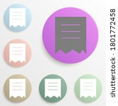 torn document badge color set....