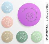 spiral badge color set. simple...
