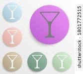 martini glass badge color set....