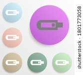 usb badge color set. simple...