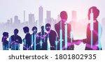 financial technology concept.... | Shutterstock . vector #1801802935