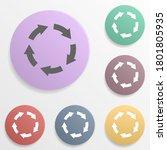 arrow badge color set icon....