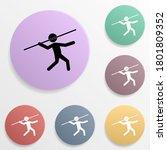 javelin throw badge color set...
