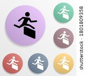 runner over barrier badge color ...