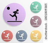 running man badge color set...