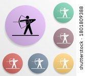 archery badge color set icon....