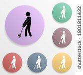 golf player badge color set...