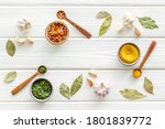 Colourful Herbs Spices And...