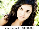 beautiful woman with impressive ... | Shutterstock . vector #18018430