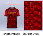 fabric textile for sport t... | Shutterstock .eps vector #1801859908