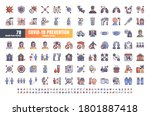 vector of 78 covid 19... | Shutterstock .eps vector #1801887418