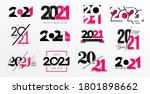 big collection of 2021 happy... | Shutterstock .eps vector #1801898662