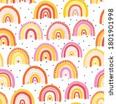 childish seamless pattern with... | Shutterstock .eps vector #1801901998