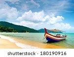 Beach Scene in Penang, Malaysia - stock photo