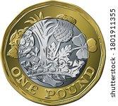 vector british money gold coin... | Shutterstock .eps vector #1801911355