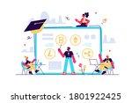 financial literacy education  e ... | Shutterstock .eps vector #1801922425