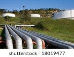 fuel  oil  tanks in territory... | Shutterstock . vector #18019477