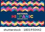 national hispanic heritage... | Shutterstock .eps vector #1801950442