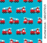 seamless fire fighters red fire ... | Shutterstock .eps vector #180197015