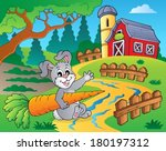 farm theme with red barn 2  ... | Shutterstock .eps vector #180197312