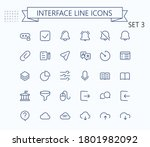 interface vector outline mini...