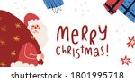 smiling santa claus holding... | Shutterstock .eps vector #1801995718