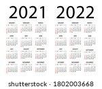 calendar 2020 2021 2022  ... | Shutterstock .eps vector #1802003668