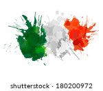 italian  flag made of colorful... | Shutterstock .eps vector #180200972