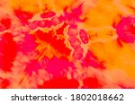 Wet Art Print. Pink Tie Dye...