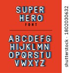 super hero font lettering with... | Shutterstock .eps vector #1802030632