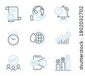 time management  world water...   Shutterstock .eps vector #1802032702