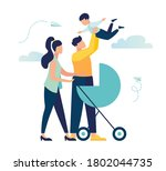 vector illustration of a happy... | Shutterstock .eps vector #1802044735